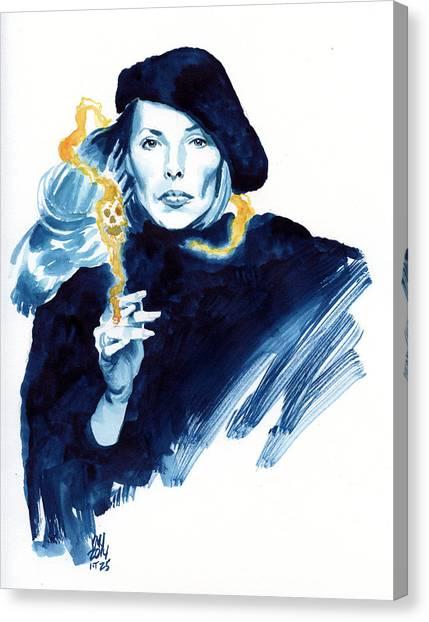 Joni Mitchell Canvas Print - inktober 25 Joni's folly by Ken Meyer