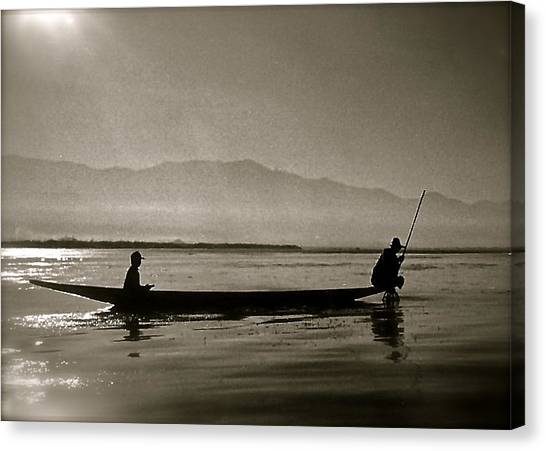 Inle Fishermen Canvas Print