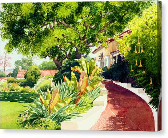 Coffee Plant Canvas Print - Inn At Rancho Santa Fe by Mary Helmreich
