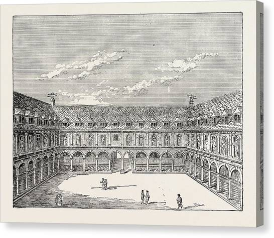 Inner Court Of The First Royal Exchange London Canvas Print by English School