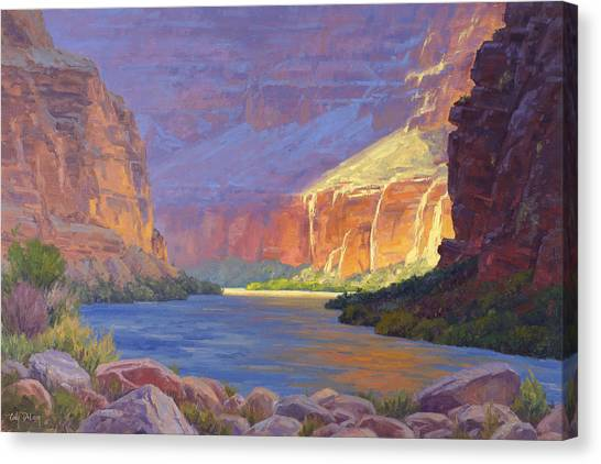 Canyon Canvas Print - Inner Glow Of The Canyon by Cody DeLong