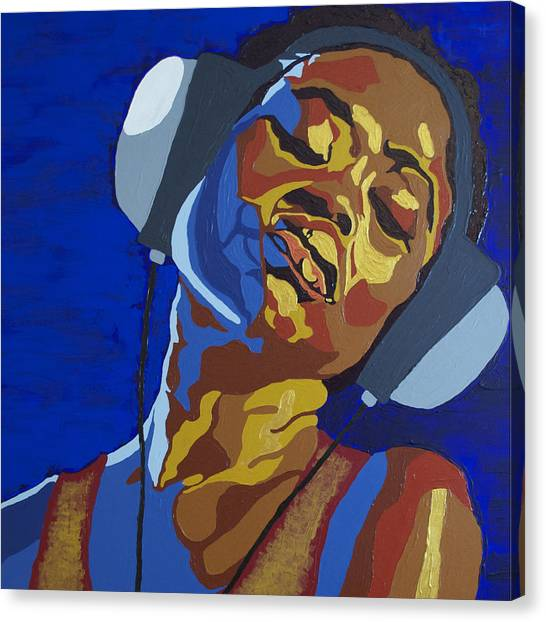 Headphones Canvas Print - Innervisions Songs Of Freedom by Rachel Natalie Rawlins