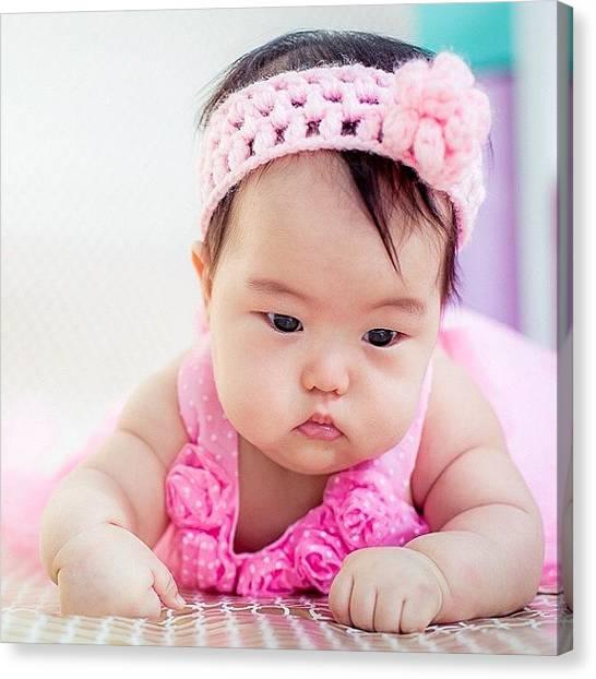 Innocent Canvas Print - #innocence #cute #beautiful #newborn by Arvind Ranganathan