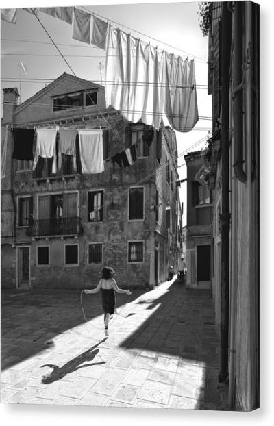 Jump Rope Canvas Print - Innocent Games by Francesco Deste