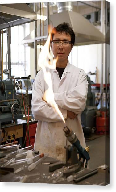 Academic Art Canvas Print - Inorganic Chemistry Research by Matt Stuart/oxford University Images