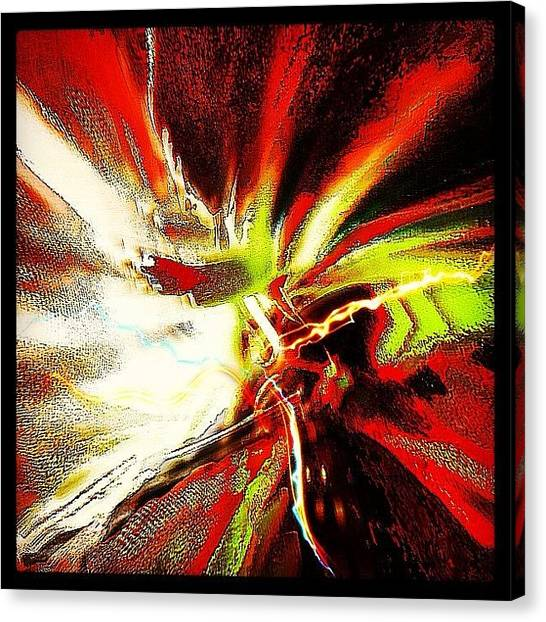 Axes Canvas Print - Insane Guitar Solo by Urbane Alien