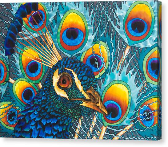 Insane Peacock Canvas Print