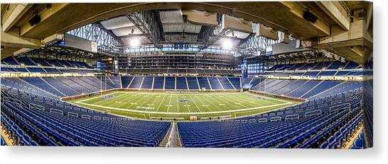 Detroit Lions Canvas Print - Inside Ford Field by John McGraw
