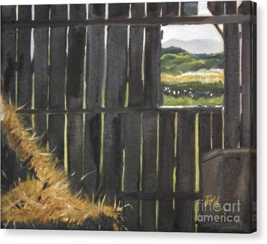 Barn -inside Looking Out - Summer Canvas Print
