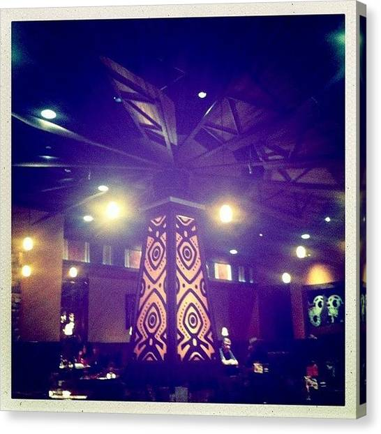 Australian Canvas Print - Inside Outback Steakhouse Restaurant by James Roberts