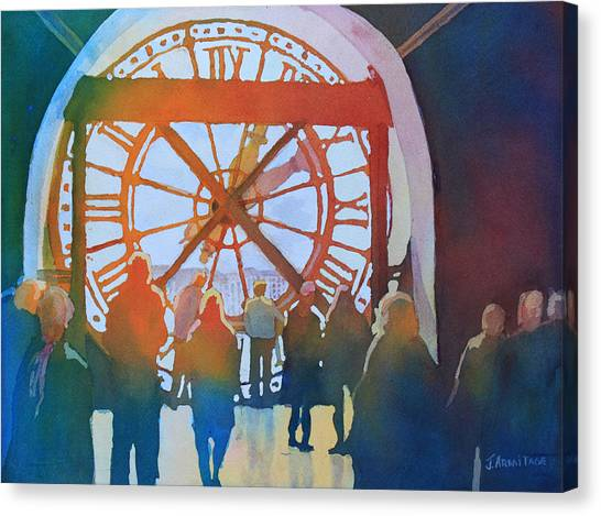 Inside Paris Time Canvas Print