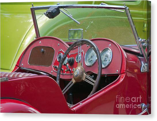 Red Mg-td Convertible  Canvas Print
