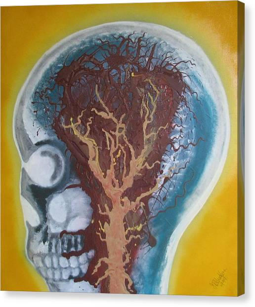 Canvas Print - Inside The Brain by Joan Stratton