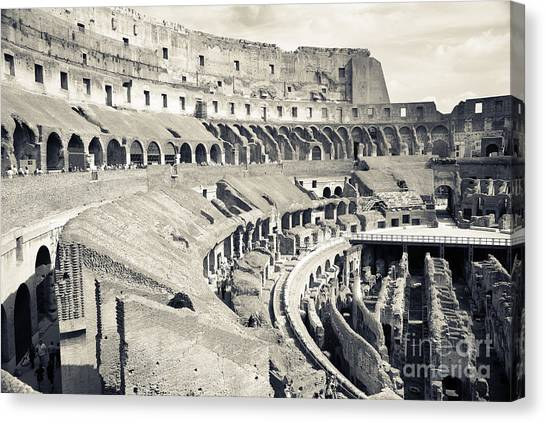 The Colosseum Canvas Print - Inside The Colosseum by Jim  Calarese