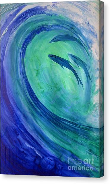 Inside The Curl Canvas Print