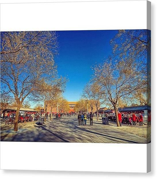Sunny Canvas Print - Inside The Forbidden City In Beijing by Sunny Merindo