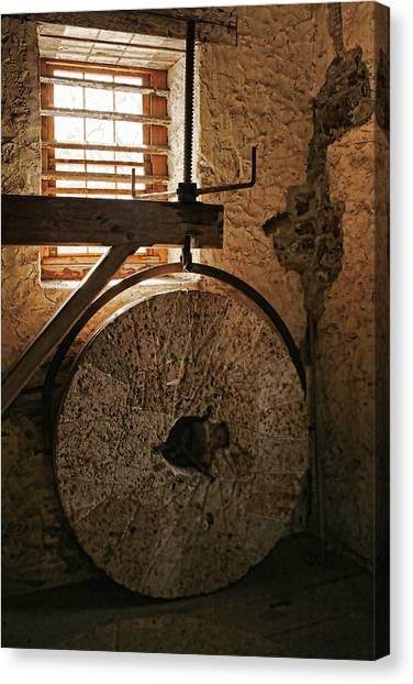 Inside The Gristmill Canvas Print