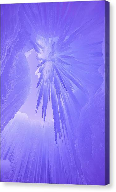 Ice Caves Canvas Print - Inside The Ice by Darren  White