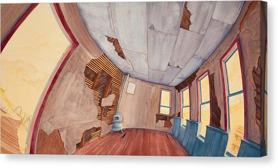 Canvas Print featuring the painting Inside The Old School House IIi by Scott Kirby