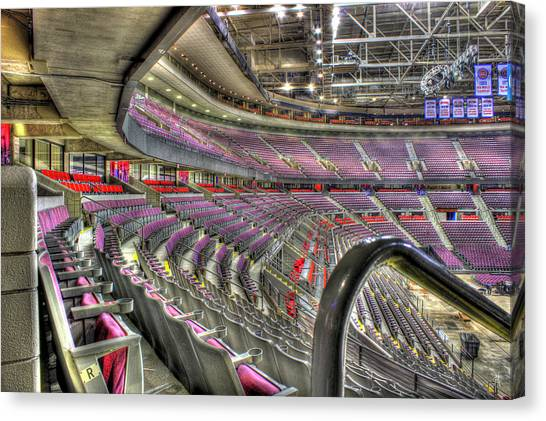 Detroit Pistons Canvas Print - Inside The Palace Auburn Hills Mi by A And N Art