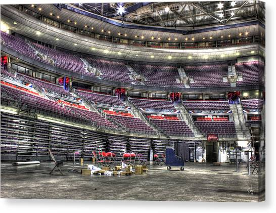 Detroit Pistons Canvas Print - Inside The Palace II Auburn Hills Mi by A And N Art