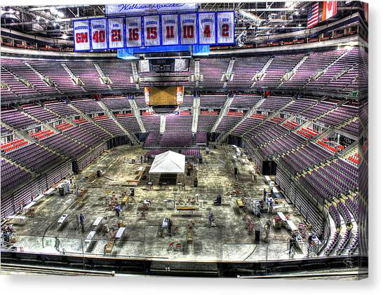 Detroit Pistons Canvas Print - Inside The Palace IIi Auburn Hills Mi by A And N Art