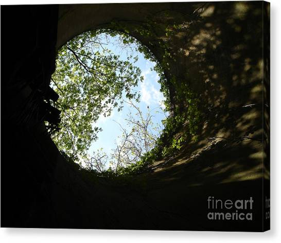 Inside The Silo Canvas Print