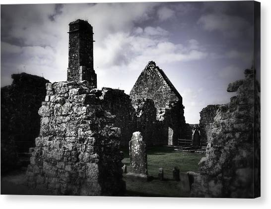 Inside The Walls At Clare Abbey II Canvas Print