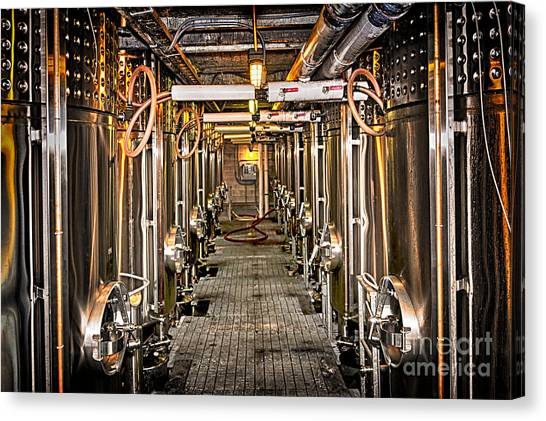 Making Canvas Print - Inside Winery by Elena Elisseeva