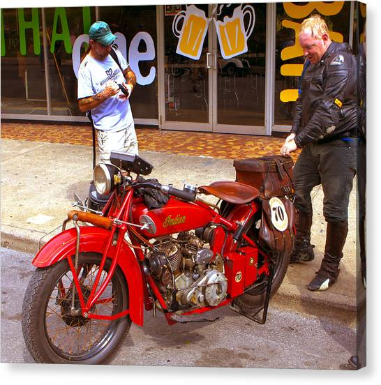 Inspecting Indian #70 Canvas Print