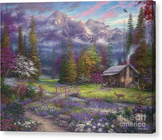 Schools Canvas Print - Inspiration Of Spring Meadows by Chuck Pinson