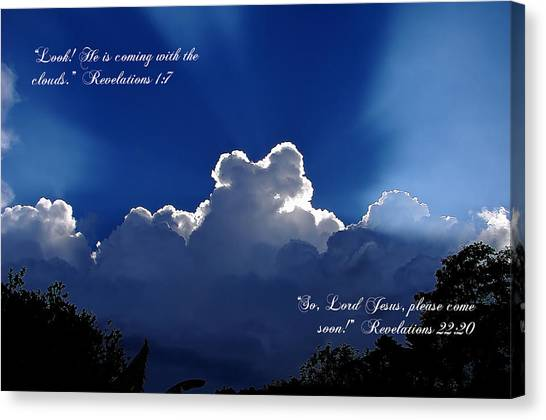 Inspirational Clouds Canvas Print