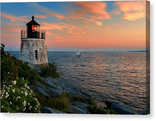 Inspirational Seascape - Newport Rhode Island Canvas Print