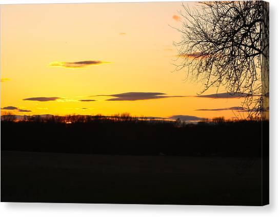 Inspirational Sunset  Canvas Print