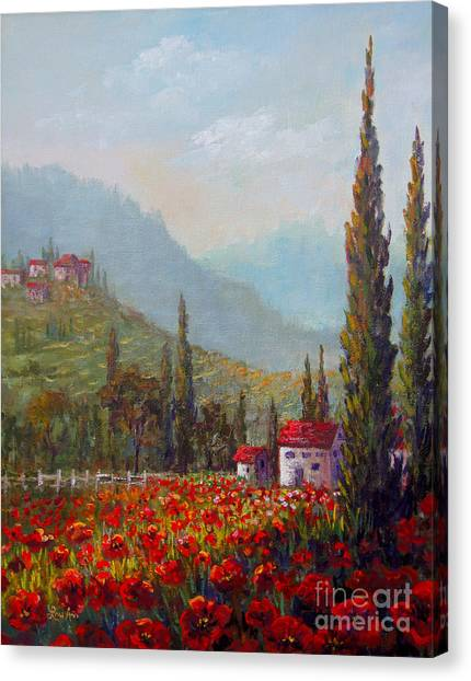 Inspired By Tuscany Canvas Print