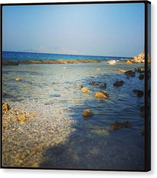 Spearfishing Canvas Print - #insta_beach #insta_summer #instaphoto by Kostas Chano