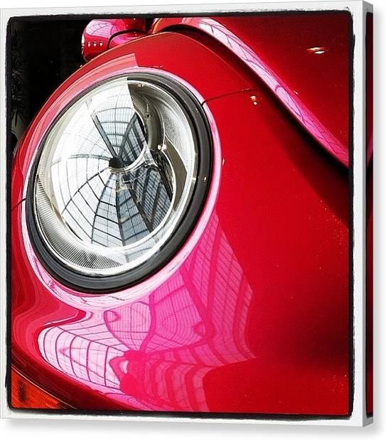 Volkswagen Canvas Print - Barbie Beetle by Heidi Hermes