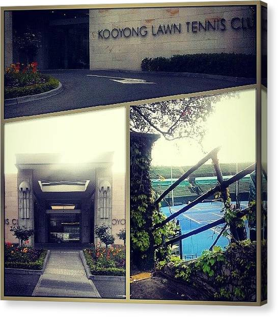 Tennis Canvas Print - #instagood #instagram #instatennis by Xavier Healy