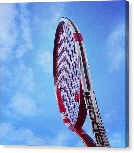 Tennis Racquet Canvas Print - #instagood #instagramtagsdotcom by Darren Sacks