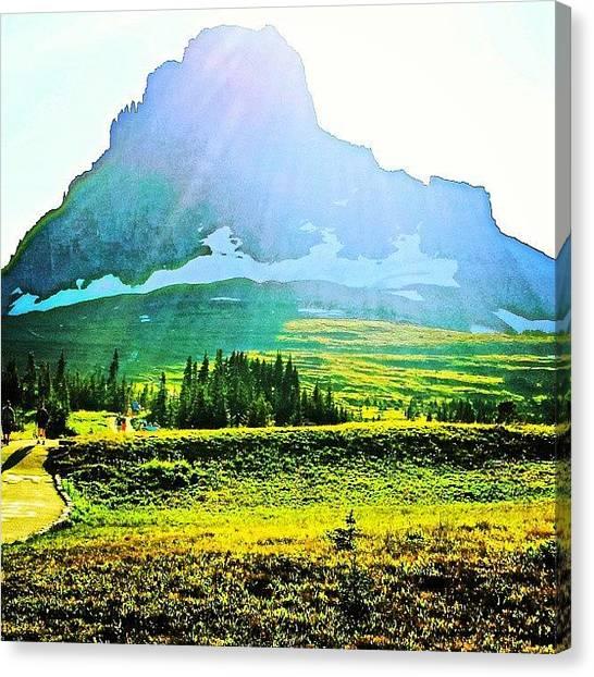 Glaciers Canvas Print - #instagood #love #glacier #loganpass by Aaron Heberly