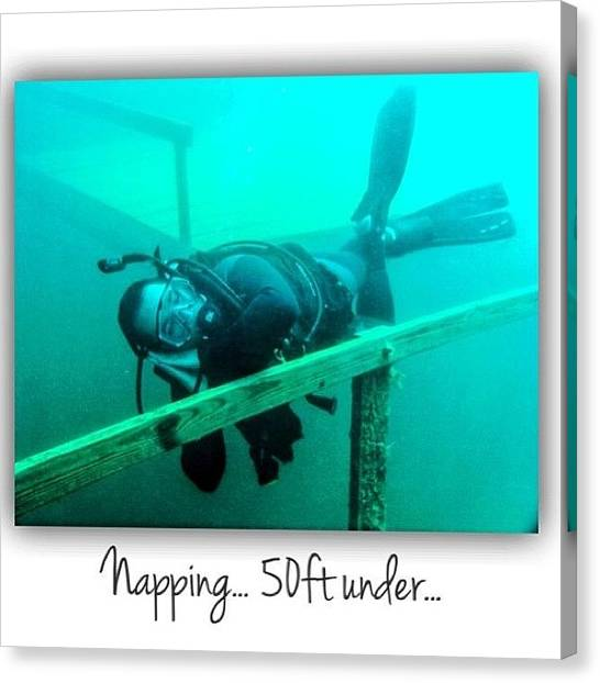 Scuba Diving Canvas Print - #instagood #photooftheday #me #igers by Jesse Vargas