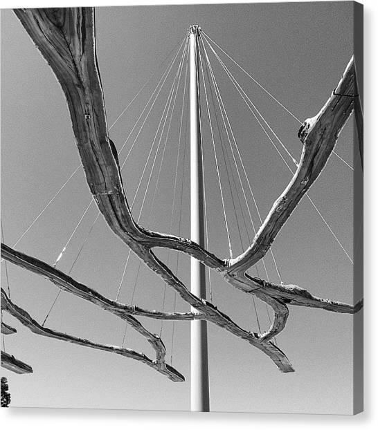 Installation Art Canvas Print - #installation #publicart #art #pole by Steven Shewach