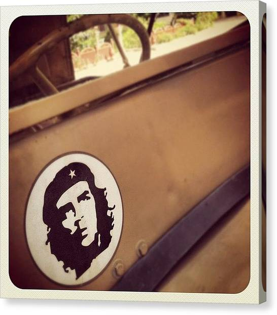 Jeep Canvas Print - #instapics #india #iphone #iphoneonly by Stephen Moody