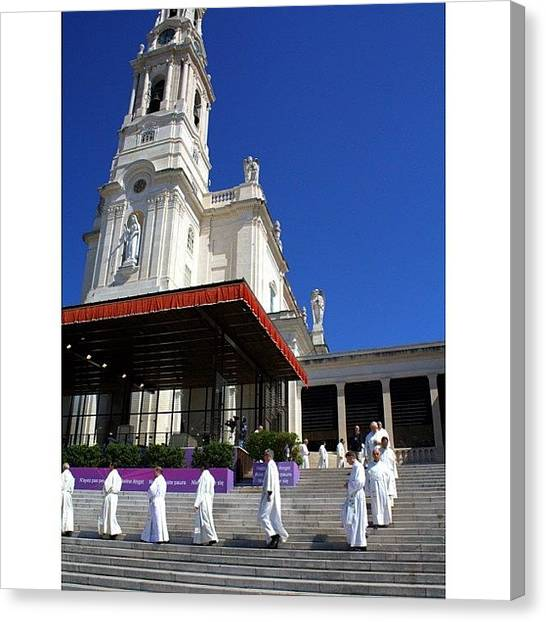 Priests Canvas Print - #instasize #sanctuary #fatima #portugal by Essy Dias