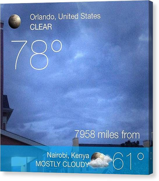 Kenyan Canvas Print - #instaweather #evening #instaweatherpro by James Roberts