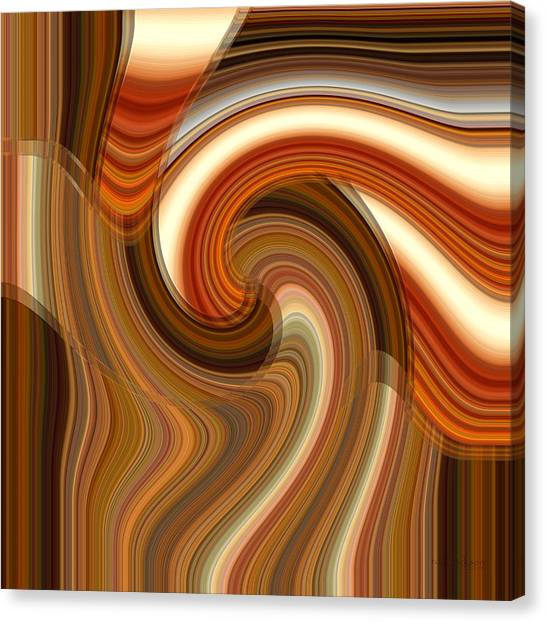 Canvas Print featuring the digital art Integral Clarity by rd Erickson