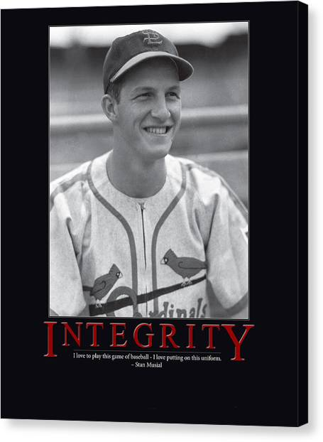 St. Louis Cardinals Canvas Print - Integrity Stan Musial by Retro Images Archive