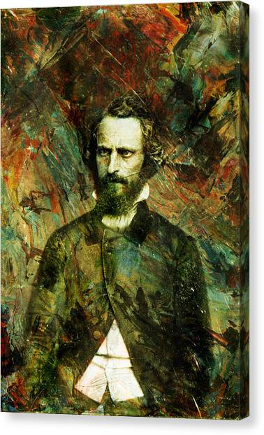 Historical Canvas Print - Intense Fellow 1 by James W Johnson