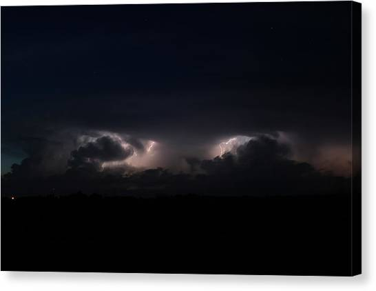 Intense Lightning Canvas Print