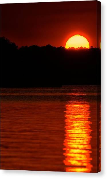 Intense Sunset Canvas Print
